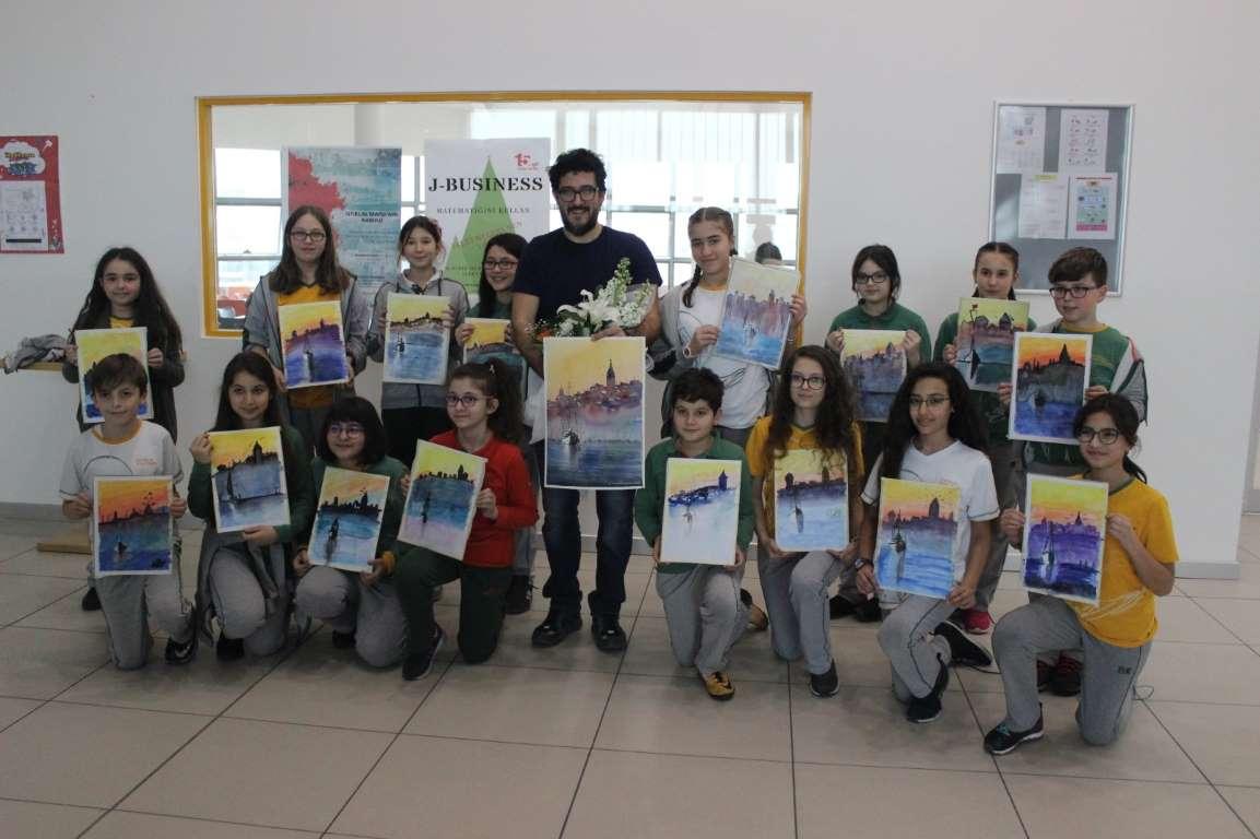Kulturlu Ogrencilerin Keyifli Suluboya Workshop U